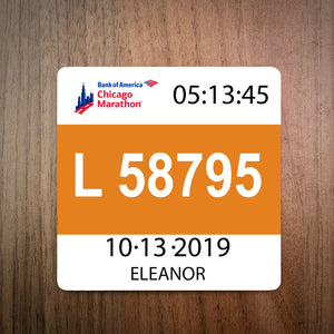 Chicago Marathon Bib Coaster