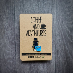 Coffee And Adventures Pin Badge