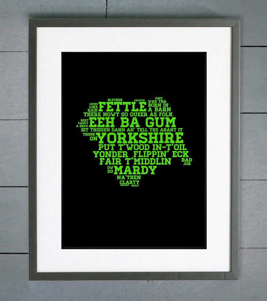 Yorkshire County Dialect Print
