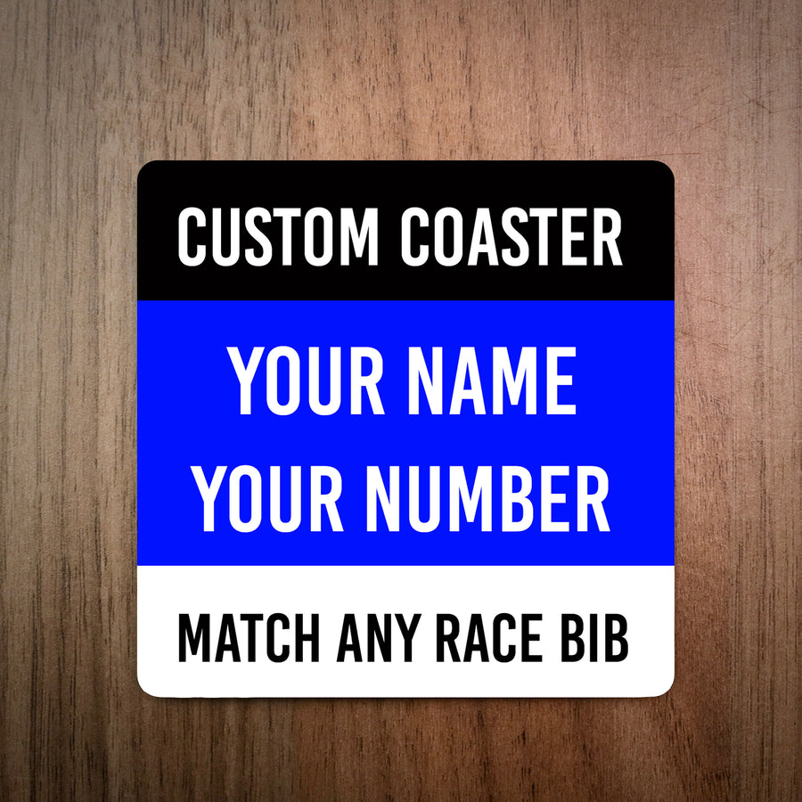 Custom Race Bib Coaster