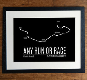 Upload Your Race Personalised Running Print