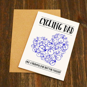 Cycling Dad Cycling Card