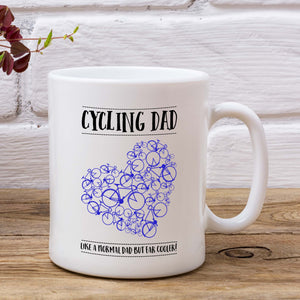 Heart Cycling Dad Mug