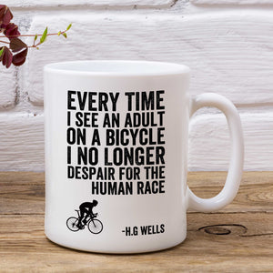 HG Wells Inspirational Cycling Mug
