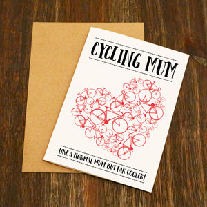 Cycling Mum Cycling Card