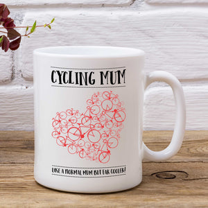Heart Cycling Mum Mug