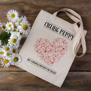 Cycling Mummy Tote Bag