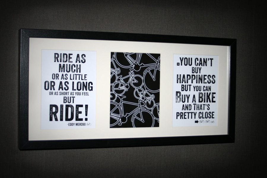 Cycling Prints - Trio Multi Aperture Framed Print