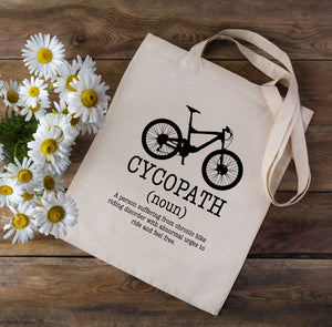 Cycopath Dictionary Cycling Tote Bag