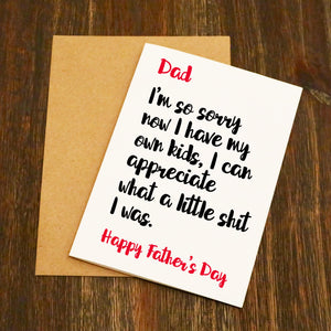 I'm So Sorry Father's Day Card