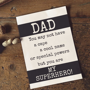PDF Print Download | Dad - My Super Hero