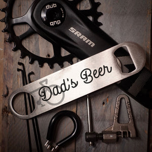 Dad's Beer Stainless Bike Bottle Opener