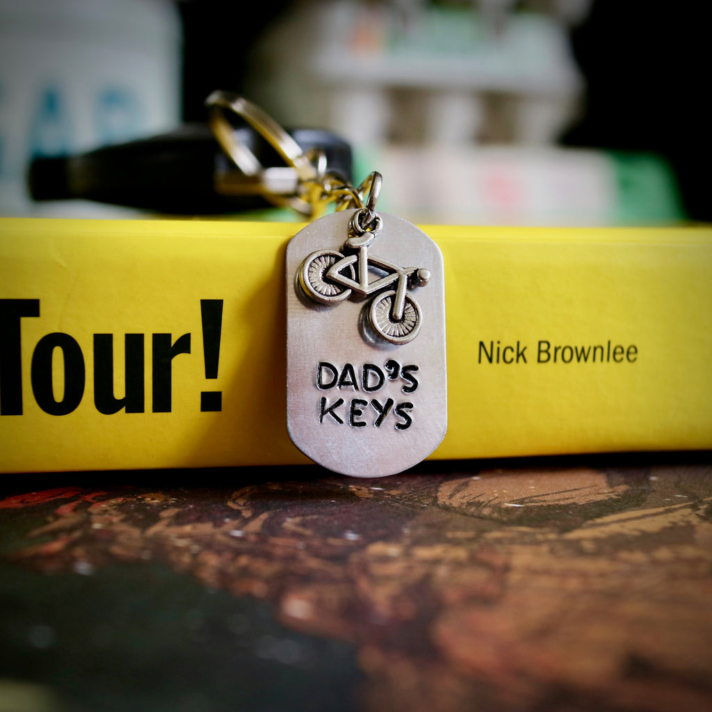 Dad's Keys Bike Keyring