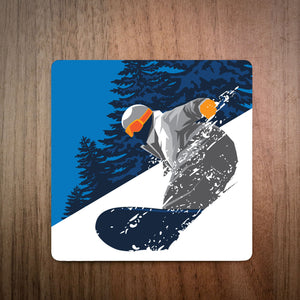 Deep Powder Snowboard Coaster
