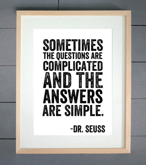 "Dr. Seuss ""Questions"" Print"