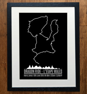 Dragon Ride L'Etape Wales GPS Personalised Print