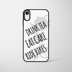 Drink Tea Eat Cake Ride Bikes Cycling Phone Case