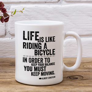 Life Einstein Inspirational Cycling Mug