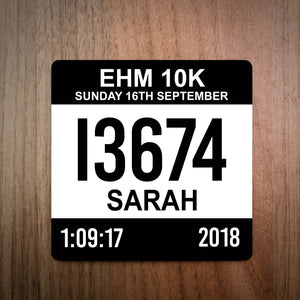 EHM 10k Race Bib Coaster 2018