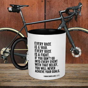 Every Race Is A War Fabian Cancellara Cycling Quote Mug