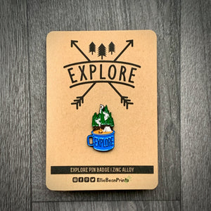 Explore.... Enamel Pin Badge