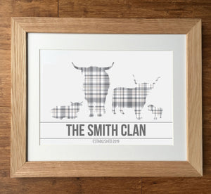 The Clan - Highland Cows Family Print