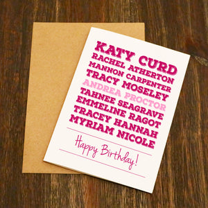 Famous Women Mountain Bikers - Birthday Card