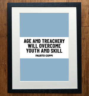 Fausto Coppi Age And Treachery Classic Race Edition Cycling Print