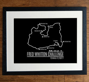 Fred Whitton Challenge GPS Personalised Cycling Print