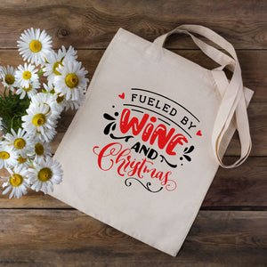 Fuelled By Wine & Christmas Tote Bag