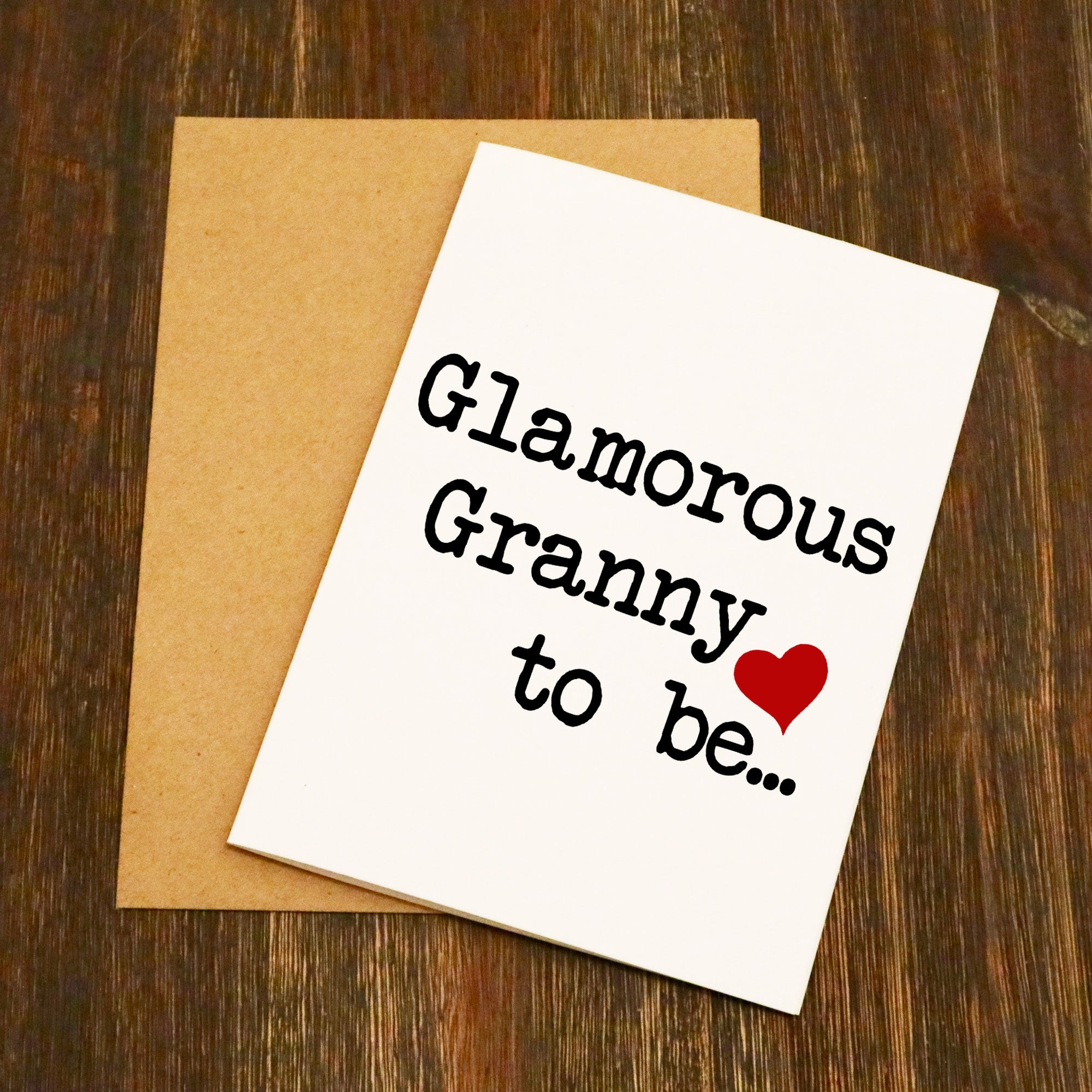 Glamorous Granny To Be Greetings Card Elliebeanprints