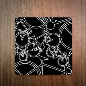 Glow Bikes Drinks Coaster