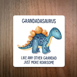 Personalised Best Grandadasaurus Coaster