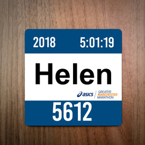 Greater Manchester Marathon Race Bib Coaster