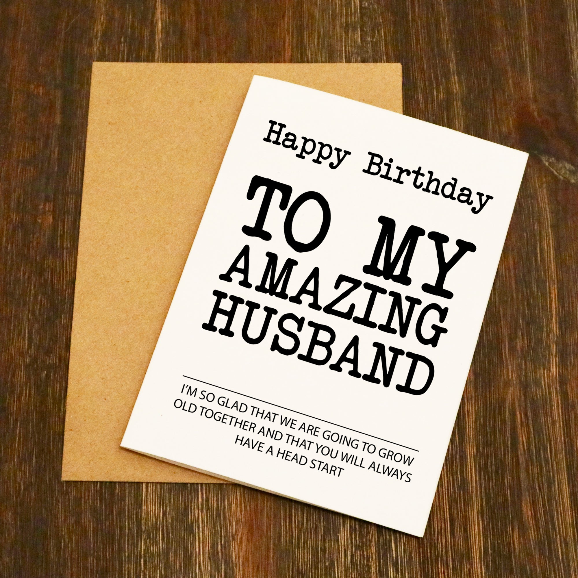 Birthday Cards For Husband Amazon Co Uk: EllieBeanPrints
