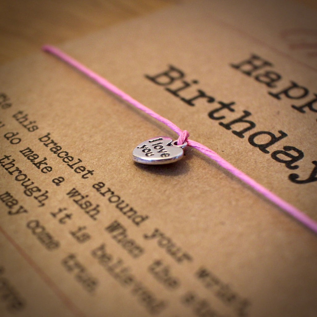 Happy Birthday Wish Bracelet & Personalised Postcard