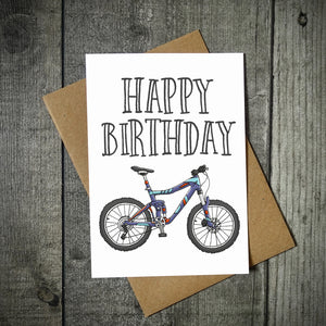 Happy Birthday Mountain Bike Card