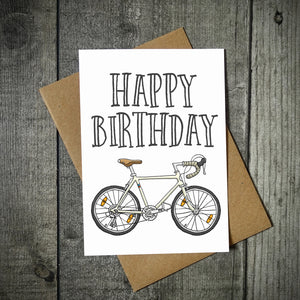 Happy Birthday Road Bike Card