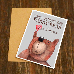 Daddy Bear Personalised Father's Day Card