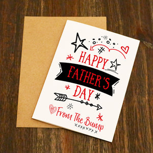 Happy Father's Day From Bump Father's Day Card