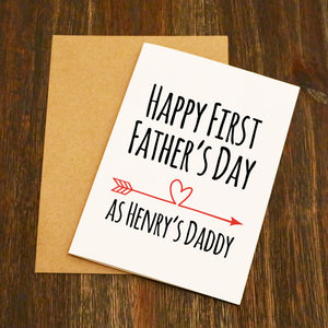 Happy First Father's Day - Personalised Father's Day Card
