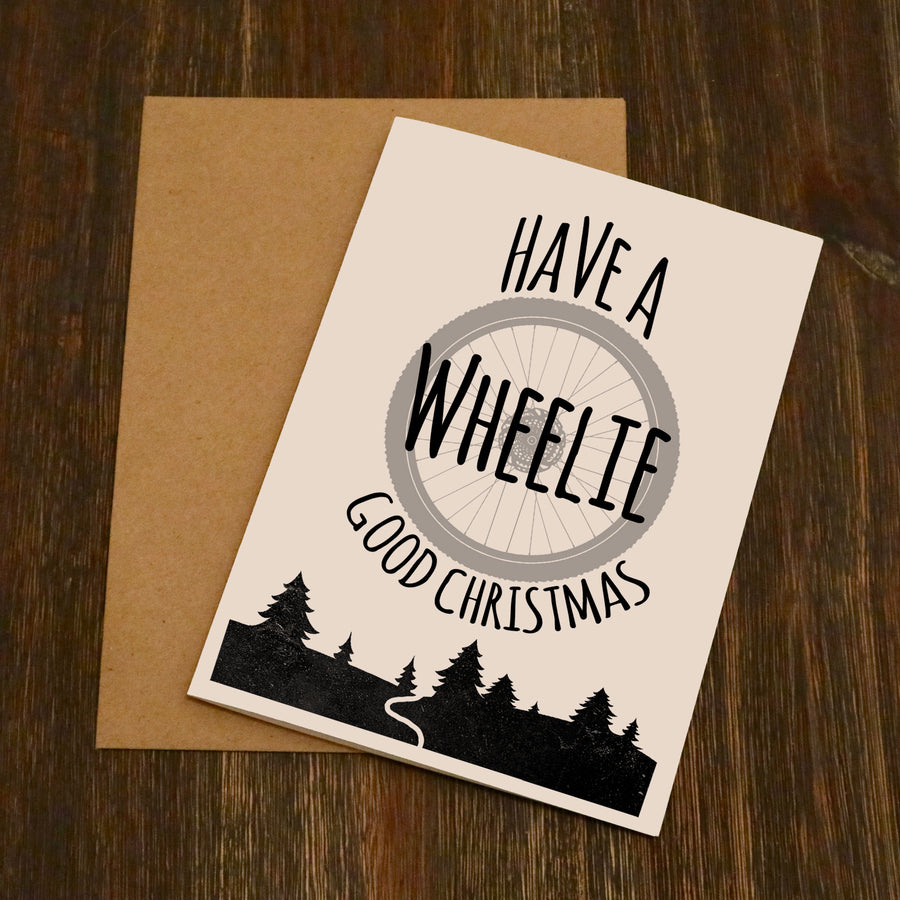 Have A Wheelie Good Christmas - Cycling Christmas Card