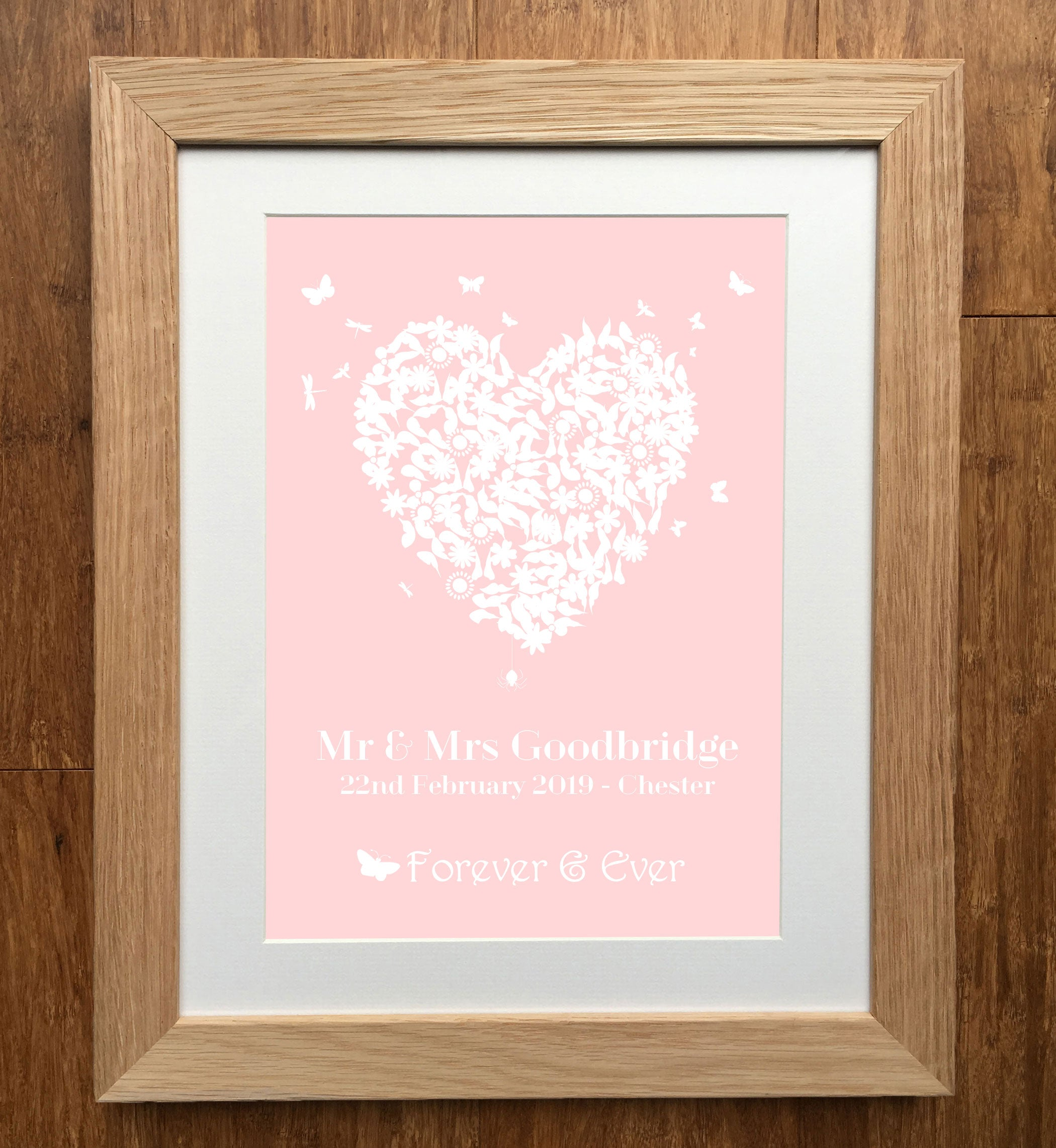 Heart Personalised Personalised Wedding Print - Personalised Wedding ...