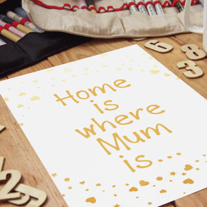 PDF Print Download | Home Is Where Mum Is Print