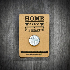 Home Is Where The Heart Is Camper Van Enamel Pin Badge