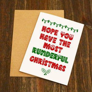 Hope You Have The Most Runderful Christmas - Running Christmas Card