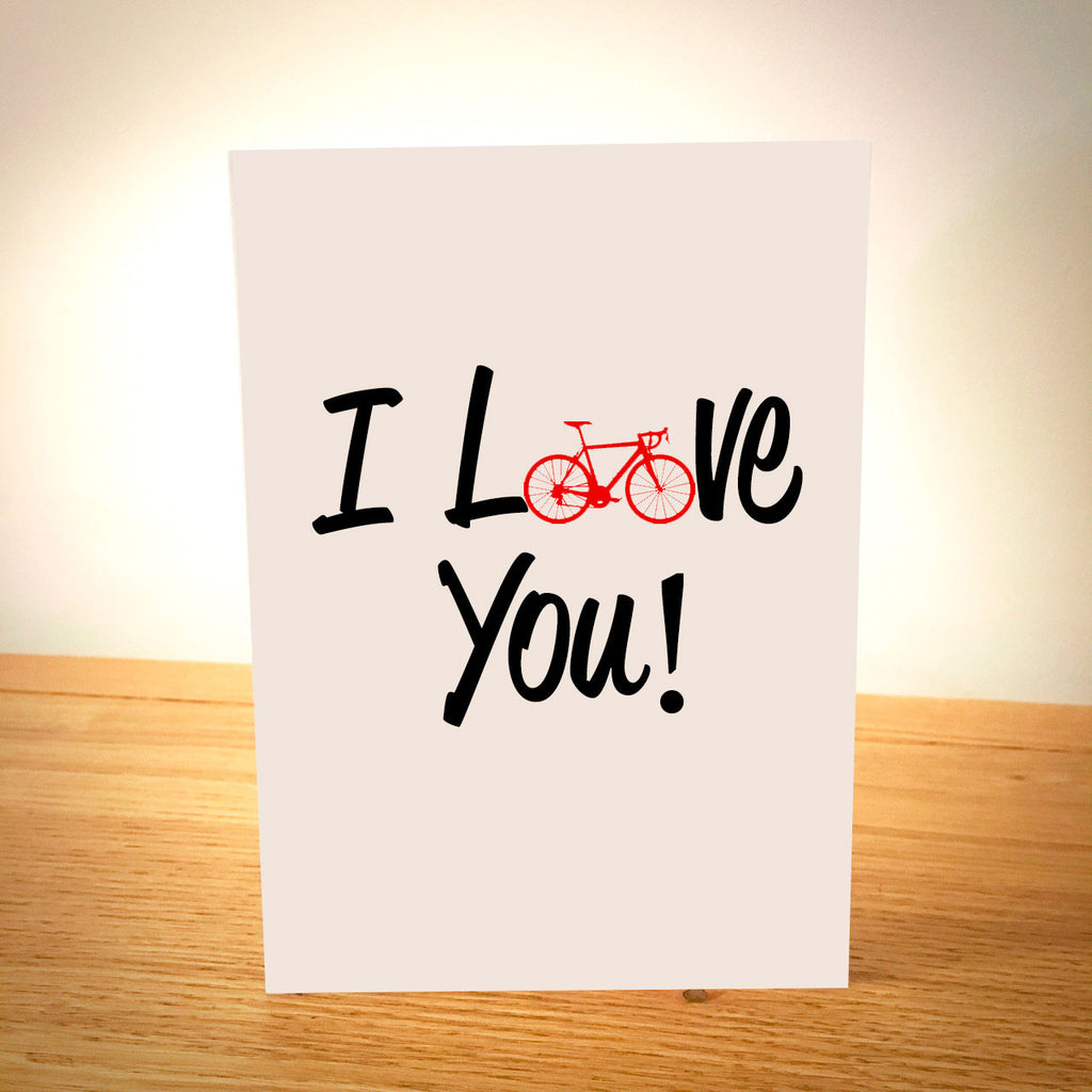 I Love You - Bike Valentine's Card