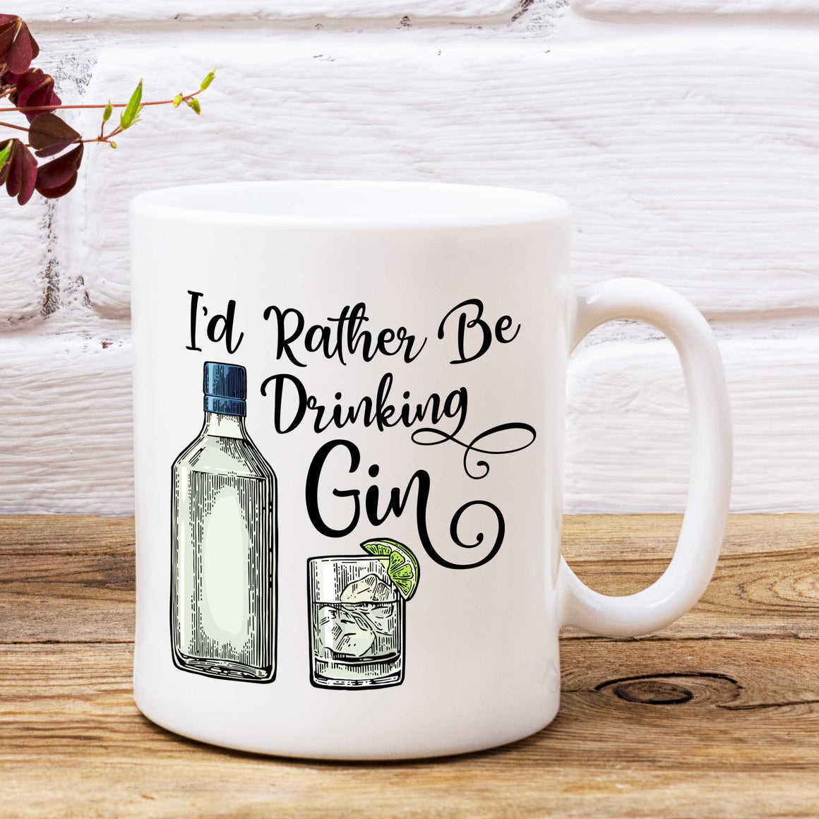 I'd Rather Be Drinking Gin Mug