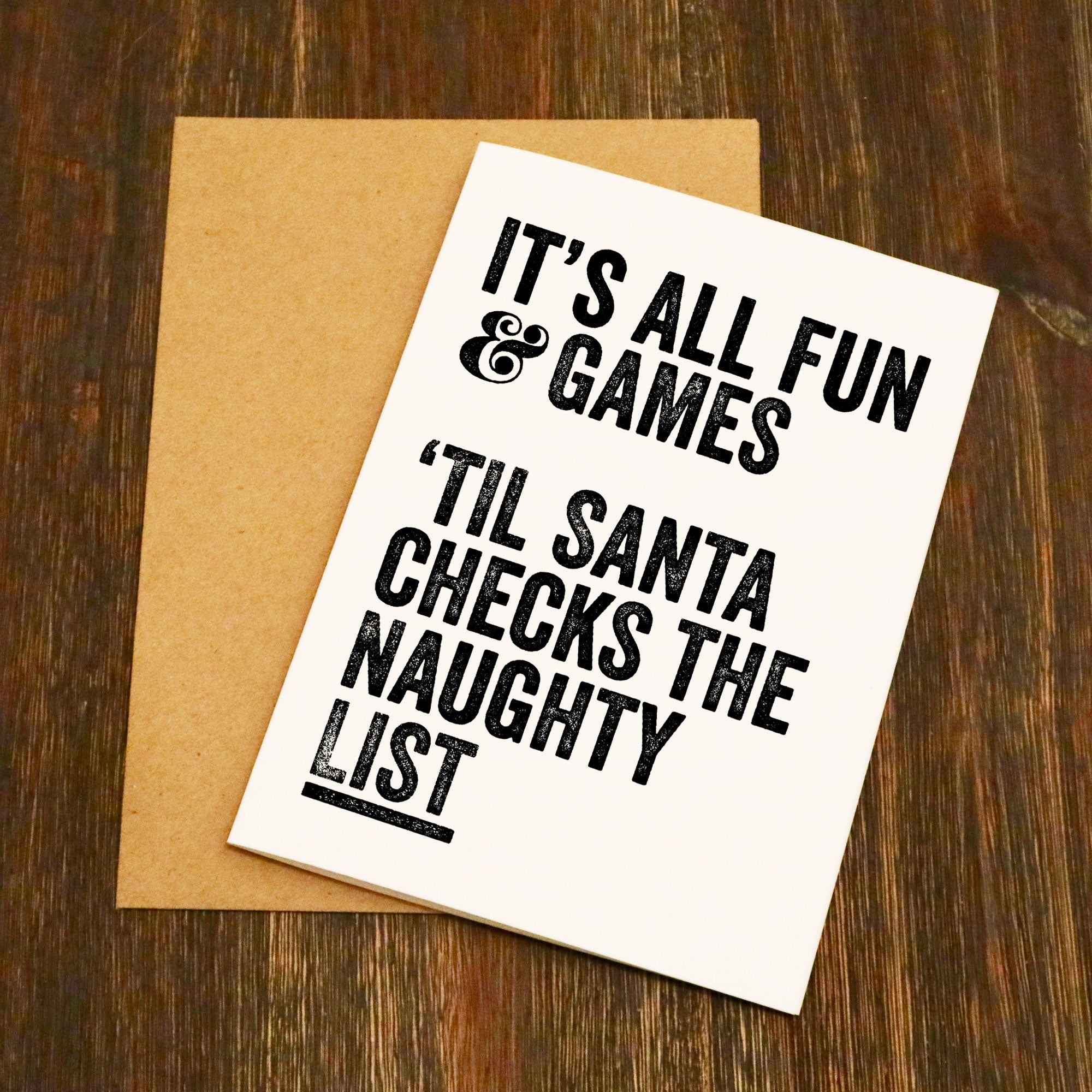 It\'s All Fun & Games Til Santa Checks The Naughty List Christmas ...