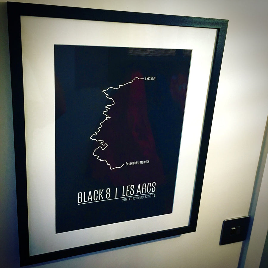 Les Arcs Black 8 Mountain Bike Trail Print